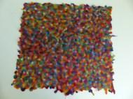 Der Stoff ist dicker geworden als erwartet und könnte durchaus als Teppich dienen.