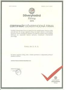certifikát dôveryhodná firma