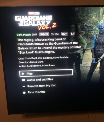 Guardians of the Galaxy 2 HDR