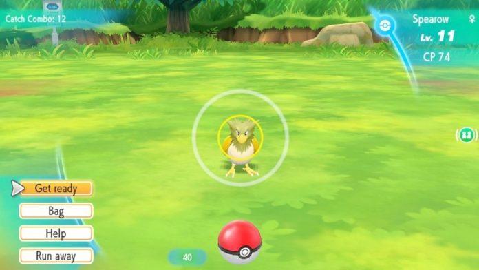 Catching Pokemon Lets go