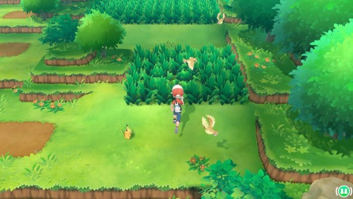 Pokemon in the grass