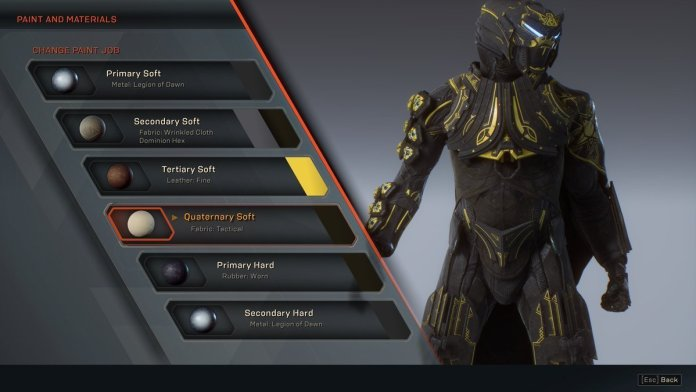 Anthem customisation