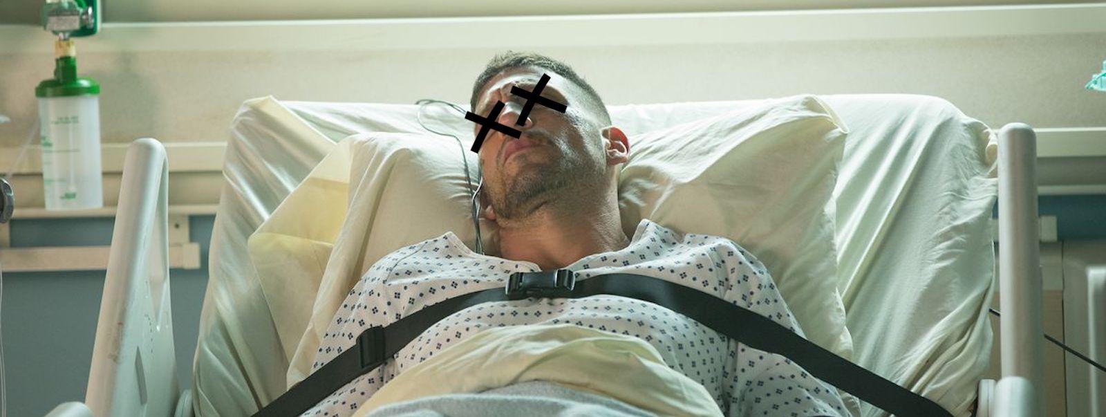 Punisher in hospital