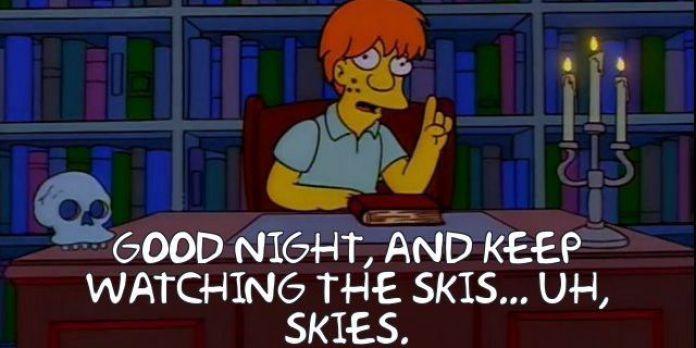 Simpsons skiies