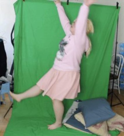 Tina Tran Greenscreen for Stranger Things audition