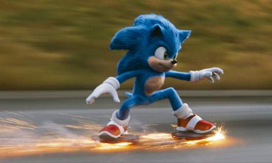 Sonic skateboarding
