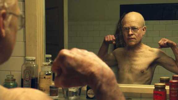 Brad Pitt as old Benjamin Button