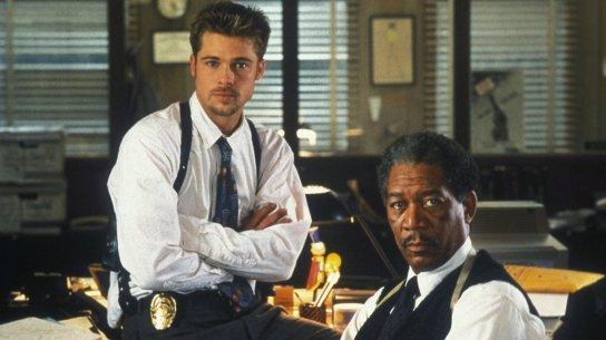 Brad Pitt and Morgan Freeman in Seven, Fincher's best movie?