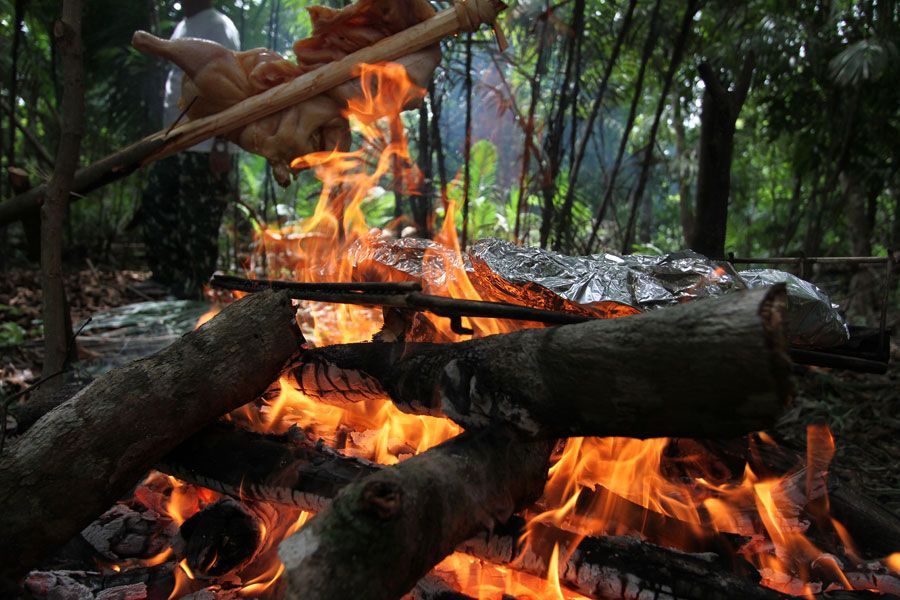 Barbeque-in-the-amazon-jungle
