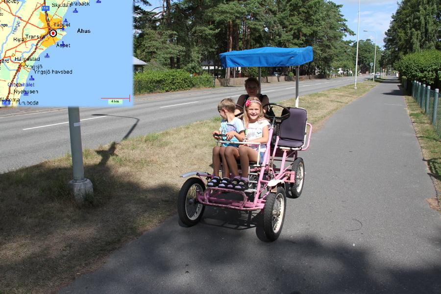 Cykla På Rosa Cykel I Åhus!