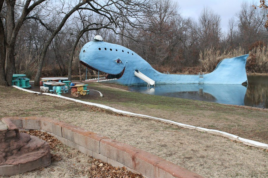 Giants on Route 66: Giant Blue Whale, Catoosa!