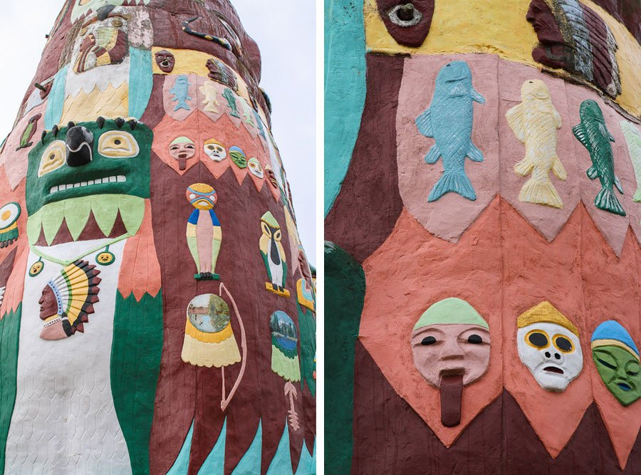Giants on Route 66: Worlds Largest Totem Pole (sidetrip)!