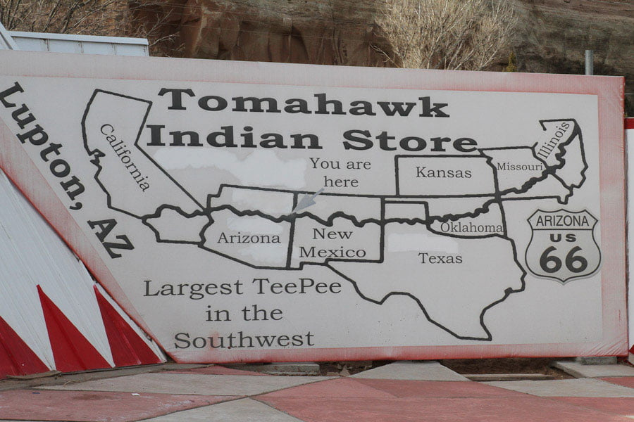 Giants along Route 66: Largest TeePee in the Southwest