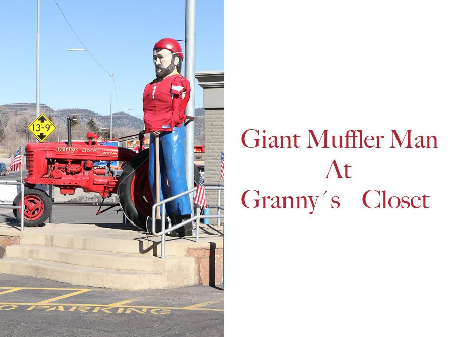 Giants along Route 66: Giant Muffler Man at Grannys Closet