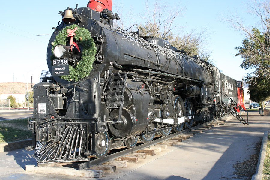 Locomotive park in Kingman, Arizona