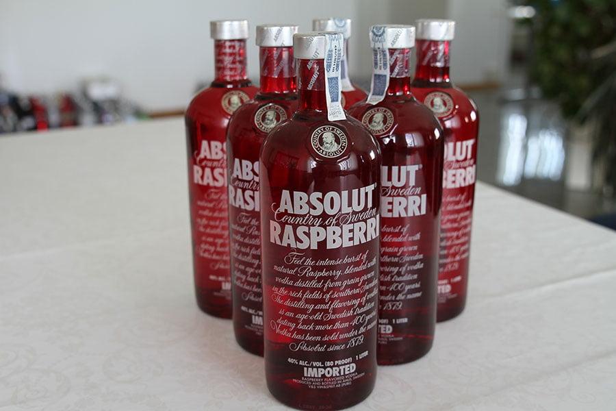 Absolut Rasberry 6 x 1 liter