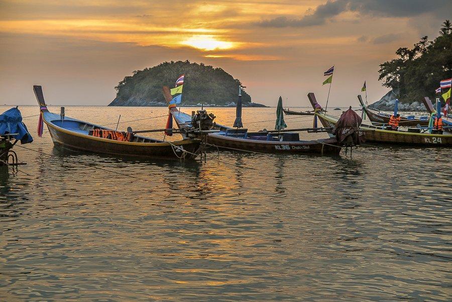 kata-beach-boat-sunset