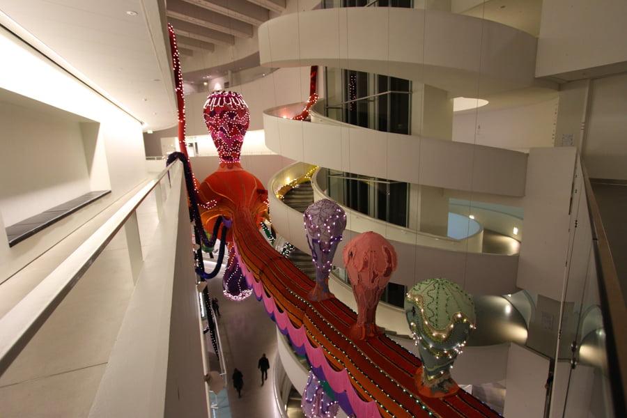 Textile art inside ARoS in Aarhus, Denmark