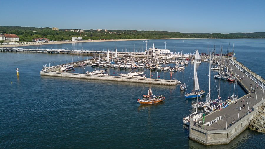 Sopot Pier (Molo) aerial photo