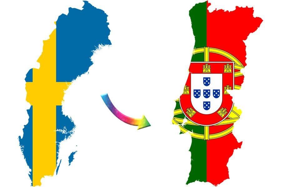 Sweden Portugal map