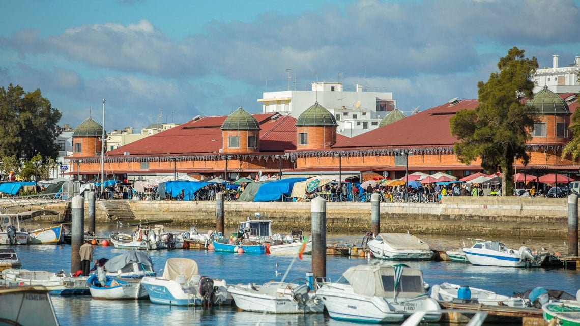 The saturday market in Olhao, Portugal