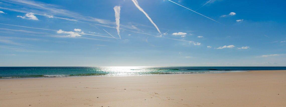 Beach at culatra island