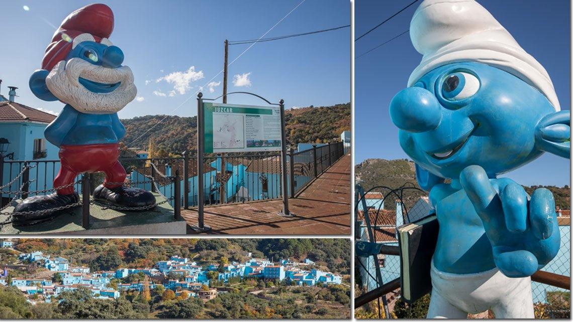 The smurf village in Juzcar, Spain