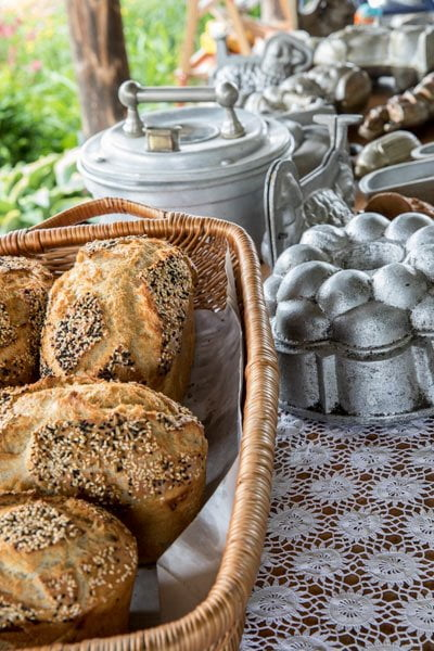 Bake traditional Kashubian bread in Poland