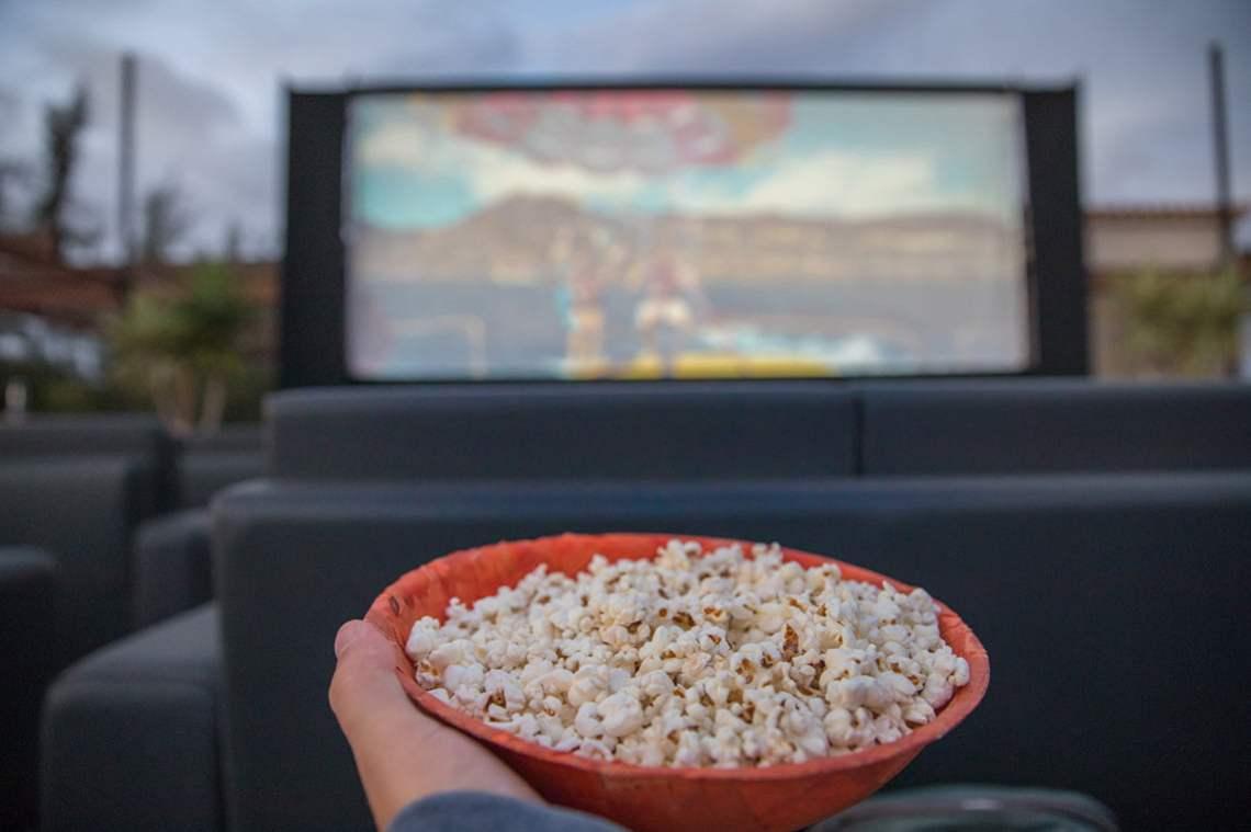 Outdoor cinema in Gran Canaria-Popcorn
