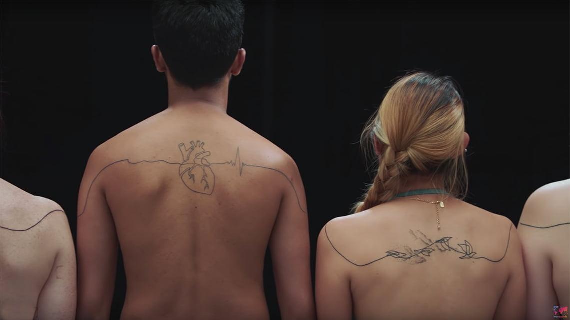 The world piece tattoo