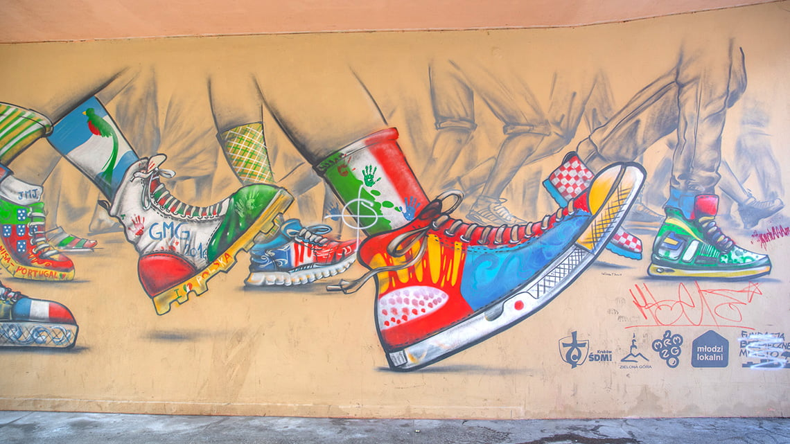Zielena Gora Wall art, Murual