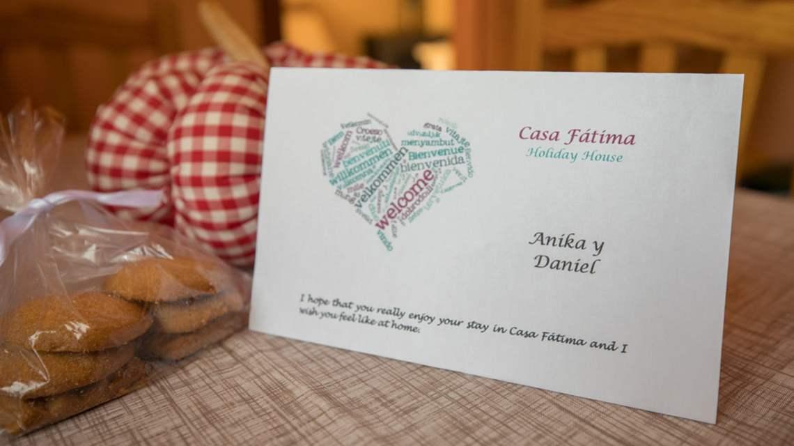 Greeting card at Casa Fatima