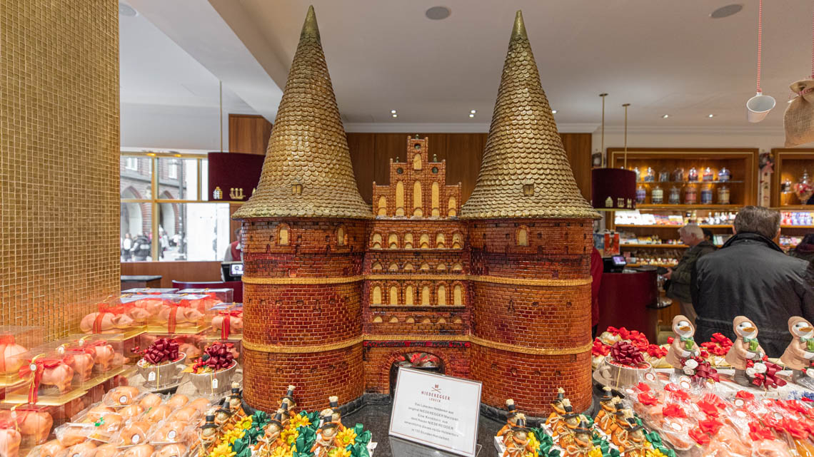 the famous Holstentor made out of marzipan