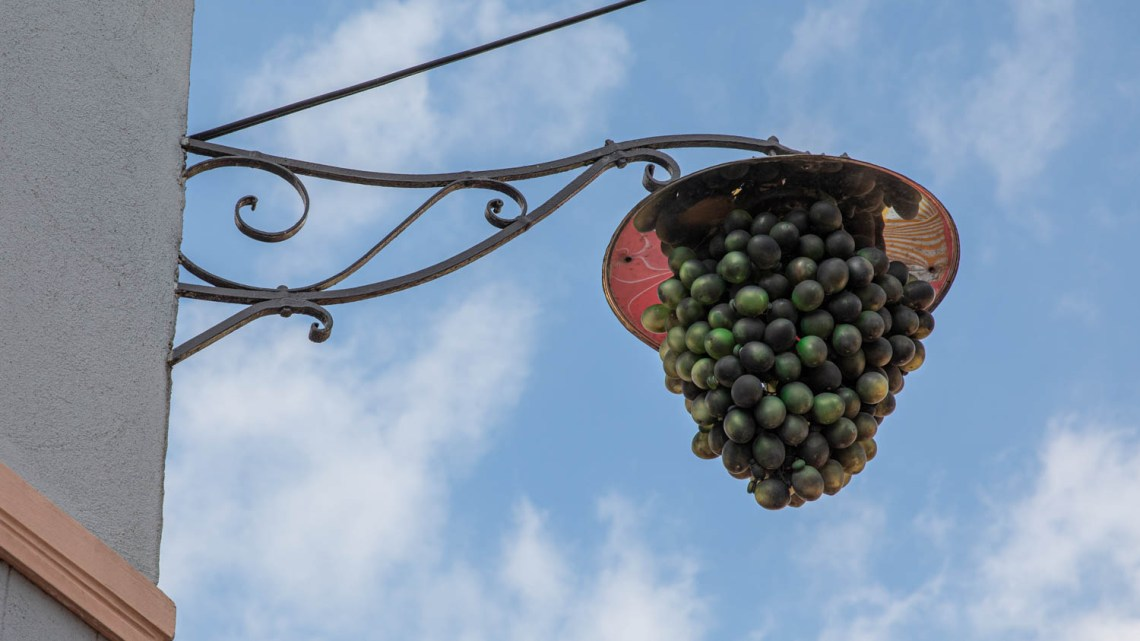 Streetlight that looks like grapes