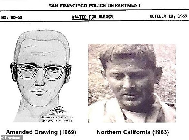The sketch of the Zodiac suspect shows what is claimed to be a scar on the forehead. Investigators believe Poste's photo at age 25 shows the same tell-tale scar
