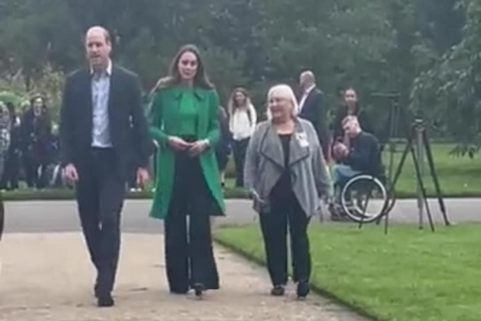 The Duke and Duchess of Cambridge strolled through Kew Gardens on their visit for the Generation Earthshot event