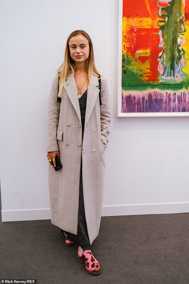 Lady Amelia Windsor, 26, who is 41st in line to the throne, also made an appearance at theFrieze Art Fair 2021