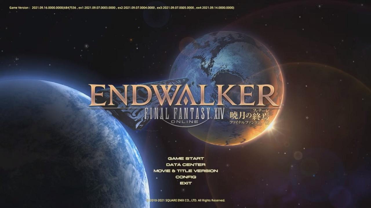 FFXIV Endwalker title screen