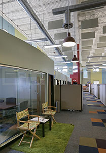The Center for Progressive Philanthropy housed in Suite 131 is one of several nonprofit organizations that call the Green Building home. (Staff photo: Bill Klotz)
