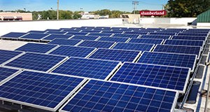 Solar panels for Slumberland Furniture's 25,000-square-foot Roseville store were installed in September as part of the Little Canada-based retailer's green initiatives in the metro area. (Submitted photo)