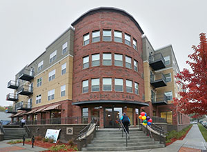Spirit on Lake Apartments, at the northwest corner of 13th Avenue South and Lake Street in Minneapolis, is a place for GLBT people to live openly as they age. (Staff photo: Bill Klotz)