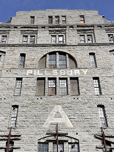 The A Mill apartment complex at 315 Main St. SE tops the list of city construction projects with a permit value of $68.1 million. (File photo: Bill Klotz)
