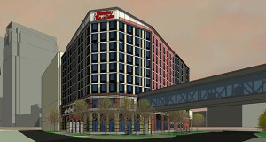 Mortenson Development has started construction of a $37 million Hampton Inn & Suites in downtown Minneapolis. The project is scheduled to wrap up in the first quarter of 2015. (Submitted rendering)