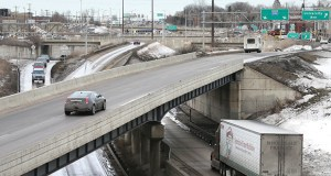 St. Paul planners hope to see a redesign of Highway 280 north to the Larpenteur Avenue interchange, particularly the exchange at Franklin Avenue, to improve truck access into the West Midway Industrial Area. (Staff photo: Bill Klotz)