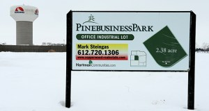 A parcel in Waconia's Pine Business Park sits undeveloped nine years after the business park was created. The property is one of three the city wants to include in a new tax increment financing district, which officials hope will build out the business park. (Staff photo: Bill Klotz)