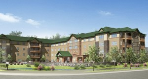 Bloomington-based United Properties has closed on the purchase of the former Stock Building Supply site at 231 W. Broadway Ave. in Forest Lake, where it plans to start construction this month on the 92-unit Cherrywood Pointe senior housing complex. (Submitted  rendering: United Properties)