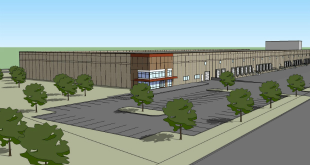 Investors Real Estate Trust's new warehouse at 3075 Long Lake Road in Roseville ill have 31 dock doors and 32-foot clearance. The project is scheduled for completion in November. (Submitted rendering)