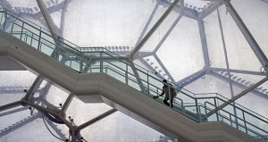 The interior of the National Aquatics Center, also called the Water Cube, is seen in January 2008. The Water Cube was among the most high profile structures at the Beijing 2008 Summer Olympics. (Bloomberg News: Bernardo De Niz)