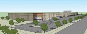 In April, North Dakota-based Investors Real Estate Trust broke ground on a new warehouse and distribution center at 3075 Long Lake Road in Roseville. (Submitted rendering)