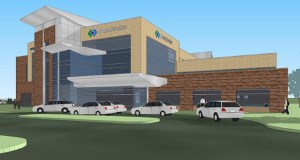 Park Nicollet announced plans Thursday for a new, $48 million outpatient center, which includes a new 115,000-square-foot building and renovation of an existing clinic at 15800 95th Ave. N. in Maple Grove. (Submitted rendering)